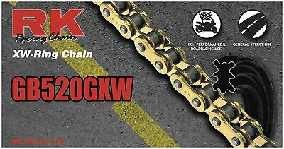 RK Motorcycle Chain Heavy DUTY GB520GXW112 GB520GXW-112 GOLD GB520GXW 112 LINKS