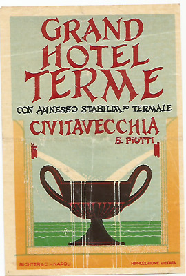 GRAND HOTEL TERME luggage label (CIVITAVECCHIA)