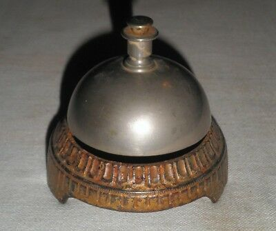 Antique Victorian Store Counter or Hotel Reception Bell 1890's