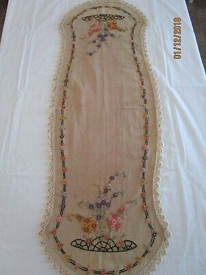 Vintage Arts & Crafts Era, Mission, Hand Embroidered Table Linen