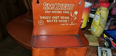 1950's Smokers Help Prevent Forest Fires Cigarette Box & Mr but snuffer rare