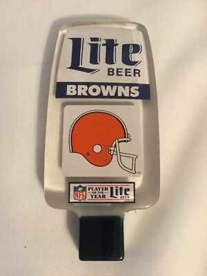 Vtg Cleveland Browns Acrylic Lite Beer Tap Handle~Knob~Football~Nfl~Man Cave
