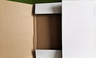 "100 Mailers Cardboard Shipping Boxes - 12"" LP 33rpm DJ Vinyl Record Album white"