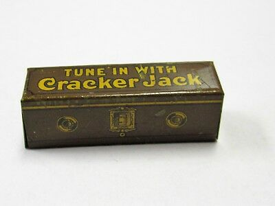 Cracker Jack Prize Tune In With Cracker Jack Tin Lithographed Radio EX Condition