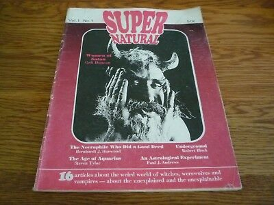 1970s Australian Witchcraft Super Natural & Occult Magazine Vol 1. No.1