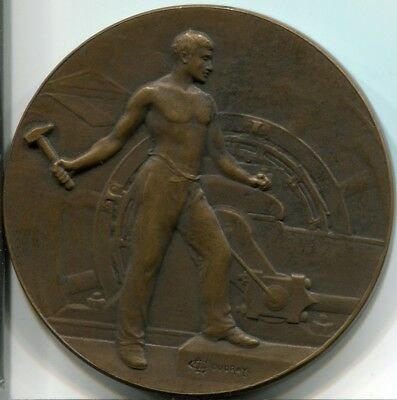 French medal by Coudray worker with hammer 50 mm [M155]