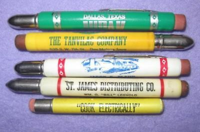 10 Advertising BULLET PENCILS Fertilizer Dairy Builders Food etc.