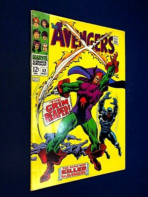 Avengers #52 (1968 Marvel) 1st appearance of Grim Reaper Silver Age NO RESERVE