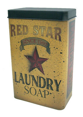 Red Star Laundry Soap Since 1897 Vintage Style Tin