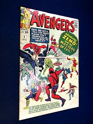 Avengers #6 (1964 Marvel) 1st appearance of Baron Zemo Silver Age NO RESERVE