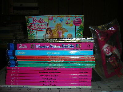 HUGE Mixed Lot of Barbie Readers/Phonics/Small Doll/Activity/Little Golden Books