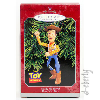 1998 WOODY THE SHERIFF NM/VSD Box NEW Hallmark Toy Story Disney Pixar Ornament
