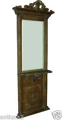 French Antique English Regency Victorian Gilt Console Pier Console Entry Mirror