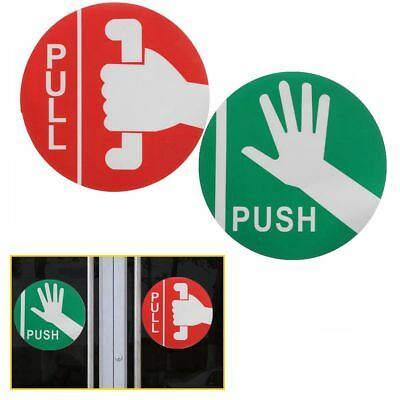 Push Pull Door Store Cafe Shop Pub Window Vinyl Decal Warning Sign