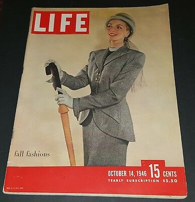 October 14, 1946 LIFE Magazine Old 40s ads WWII War era ad FREE SHIPPING Oct. 10