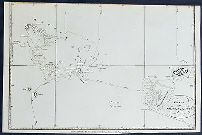 1784 Anderson Antique Map of the Tonga Islands - Mapped by Cook in 1773 & 1777