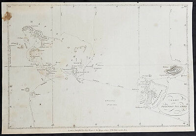1784 Anderson Antique Map of the Tonga Islands - Capt. Cook in 1773 & 1777