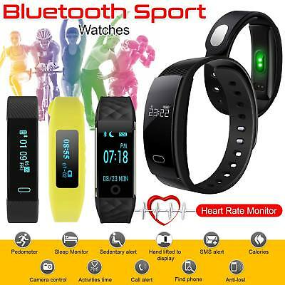 2018 Bluetooth Smart Watch Bracelet Heart Rate Fitness Activity Tracker Monitor