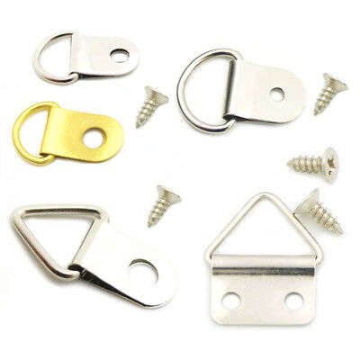 Picture Frame Hanger Ring Single Double Hole Screws For Strap Photo Arch Frame M