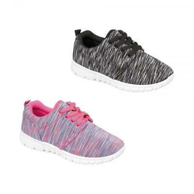 Shumo RELAY Kids Childrens Girls Stylish Modern Soft Lace Up Casual Trainers