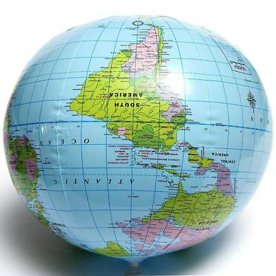 Inflatable blow up world globe 40cm earth atlas ball map geography inflatable blow up world globe 40cm earth atlas ball map geography toys gift gumiabroncs Images