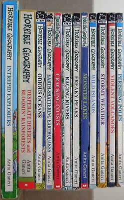 Horrible Geography books set of 12 - Rivers, Weather, Lakes, Oceans etc