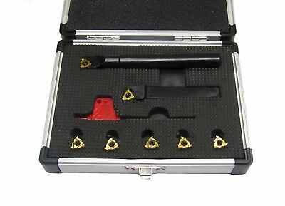 Rdg Tools Indexable Threading Set Internal External 12Mm With Inserts Myford