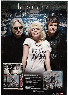 BLONDIE Panic Of Girls - Original Music Press Advert A4 Laminated