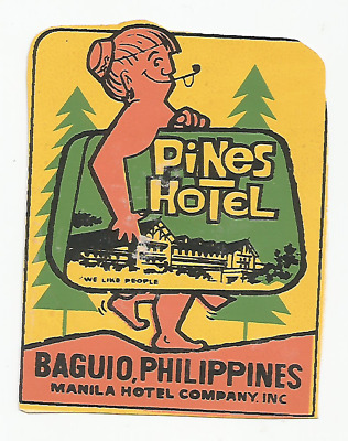 HOTEL PINES luggage PHILLIPINES label (BAGUIO)