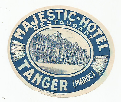 HOTEL MAJESTIC luggage MAROC label (TANGER)