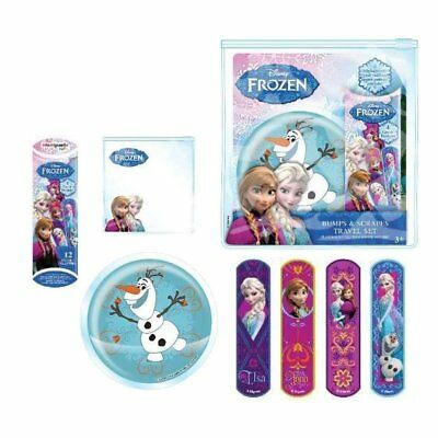 Disney Frozen Bumps and Scrapes Travel Set- Plasters & Cold Pack Bruise Soother