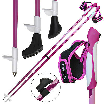 Alpidex Nordic Walking Stöcke LIPSTIX Carbon Fixlängenstock Nordic Walking Stock