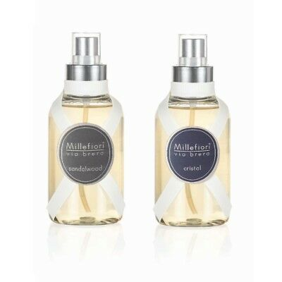 MILLEFIORI Via Brera Raumduftspray SET 150 ml SANDALWOOD und 150 ml CRISTAL