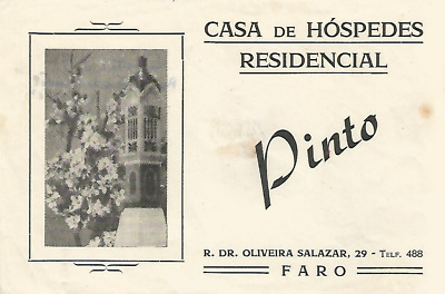 HOTEL RESIDENCIAL PINTO luggage PORTUGAL label (FARO)