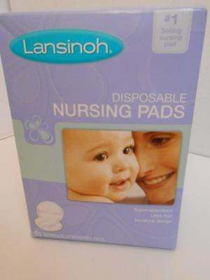 Lansinoh Disposable Nursing Pads x 60 Individually Wrapped Ultra-thin Absorbant