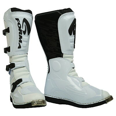 Forma Terrain Motocross Enduro Motorcycle Of Road Trials Boots White - SALE