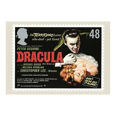 Dracula Christopher Lee Hammer Horror Film - Advert Royal Mail Phq 312 Postcard