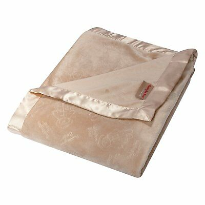 Trend Lab Paddington Bear Embossed Soft Tan Velour Blanket