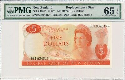 Reserve Bank Of  New Zealand  $5 nd(1981) Replacement/ Star PMG  65EPQ