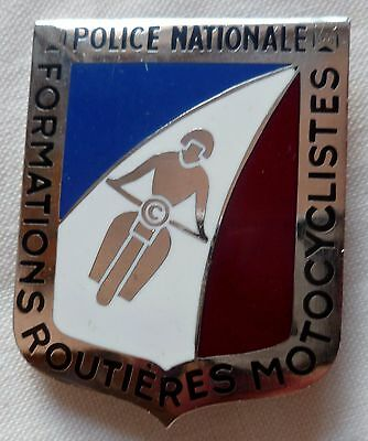 Insigne Obsolète FORMATIONS ROUTIÈRES MOTOCYCLISTES POLICE NATIONALE France moto