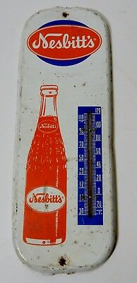 Vintage Nesbitts Soda Pop Metal Advertising Thermometer