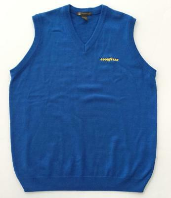 NWT Goodyear Tires Blue Large Sweater Vest by Harriton Good Year