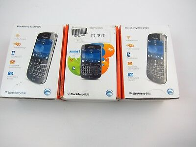 Lot of 3 In Box BlackBerry Bold 9900 AT&T Check IMEI A PB6