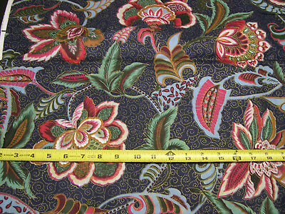 2 Yard  Piece Large Scale Richloom Floral Print 100% Cotton