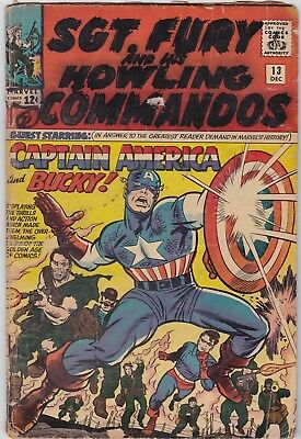 Marvel - Sgt. Fury and His Howling Commandos #13 DEC Comic Book