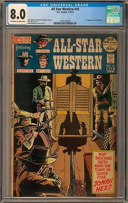 All Star Western #10 CGC 8.0 (OW-W) 1st Jonah Hex