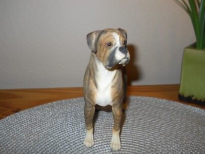 Big Beautiful Resin Male Brindle Boxer uncropped ears