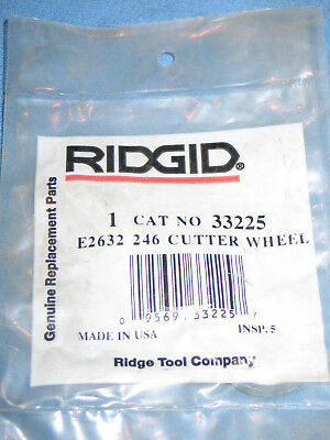 Genuine RIDGID #33225 E-2632 246 Replacement Cutter Wheel for Cast Iron - NEW