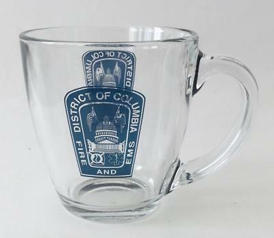 District of Columbia Fire and EMS Glass Mug Cup Washington DC