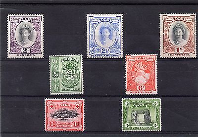 TOGA GV1 1942 SET TO 1sh sg 74-80 H.MINT